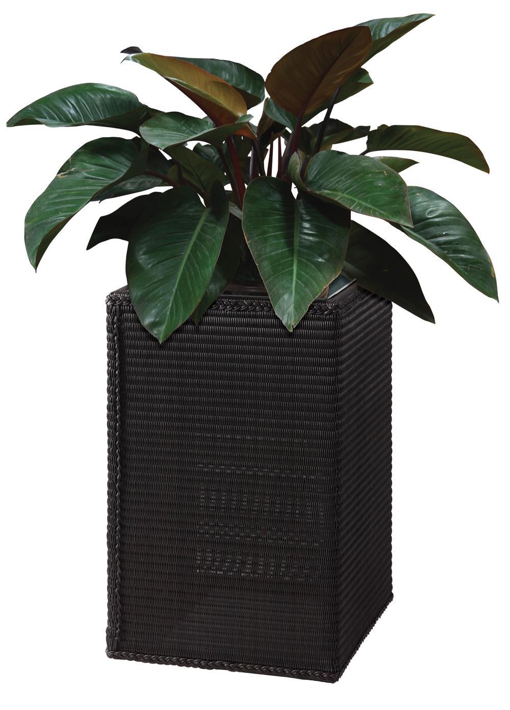 Popular patio garden aluminumfurniture rattan outdoor flowerpot
