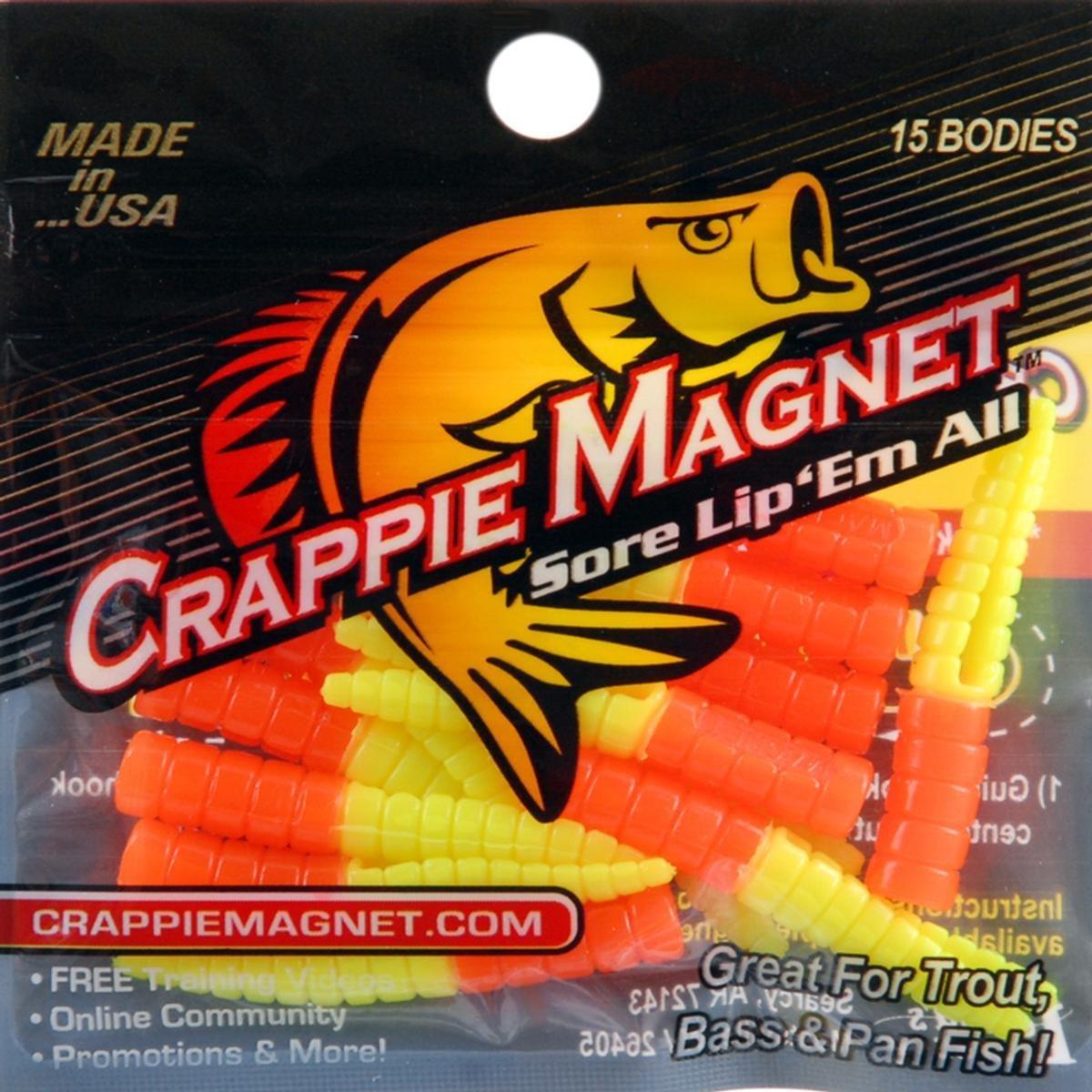 Leland's Lures Leland Crappie Magnet Body 15pk Orange/Chartreuse Md#: CM15-OC