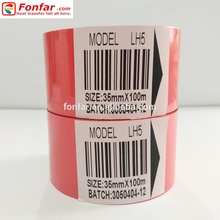 China Fabrikant van 35mm * 100 m Red Hot Stamping Lint Inkt met Lot Nummer Codering <span class=keywords><strong>Machine</strong></span> op Pscking <span class=keywords><strong>machine</strong></span>