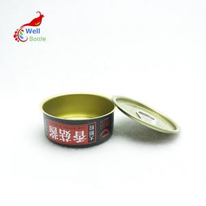 empty 100ml food grade tin can with pull ring lid for fish meat MC-027C
