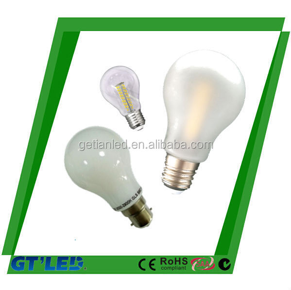 6W E27 B22 SMD LED glass Bulb , full Glass Globe Lamp 220V