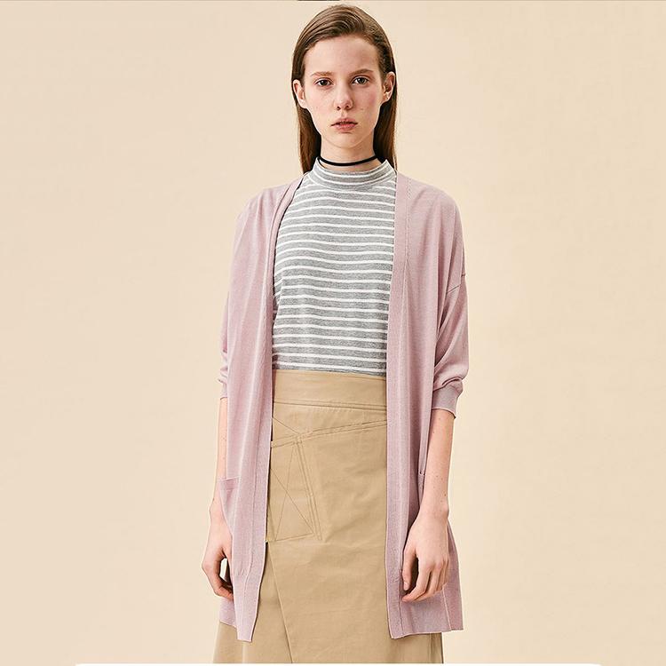 Spring breathable design shawl lightweight women cardigan