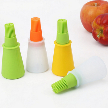 Barbecue Cooking Baking BBQ Tools Oil Brush Silicone Oil Bottle with Brush