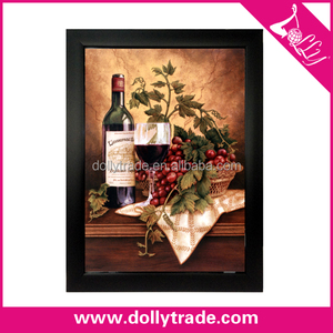 Abstract still life wine bottle oil painting on canvas