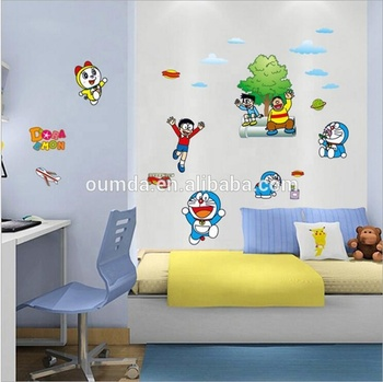 new design doraemon cartoon wall stickers for kids room - buy wall