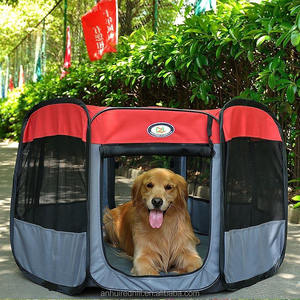 R1834H Pet octagonal fence portable folding dog tents waterproof anti-mosquito breathable cats and dogs cage