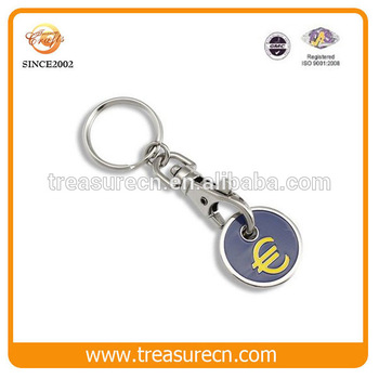 Custom Enamel Metal Coin Holder Keychain Manufacturers In China