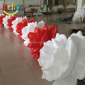 wedding stage decoration inflatable led rose flower chain