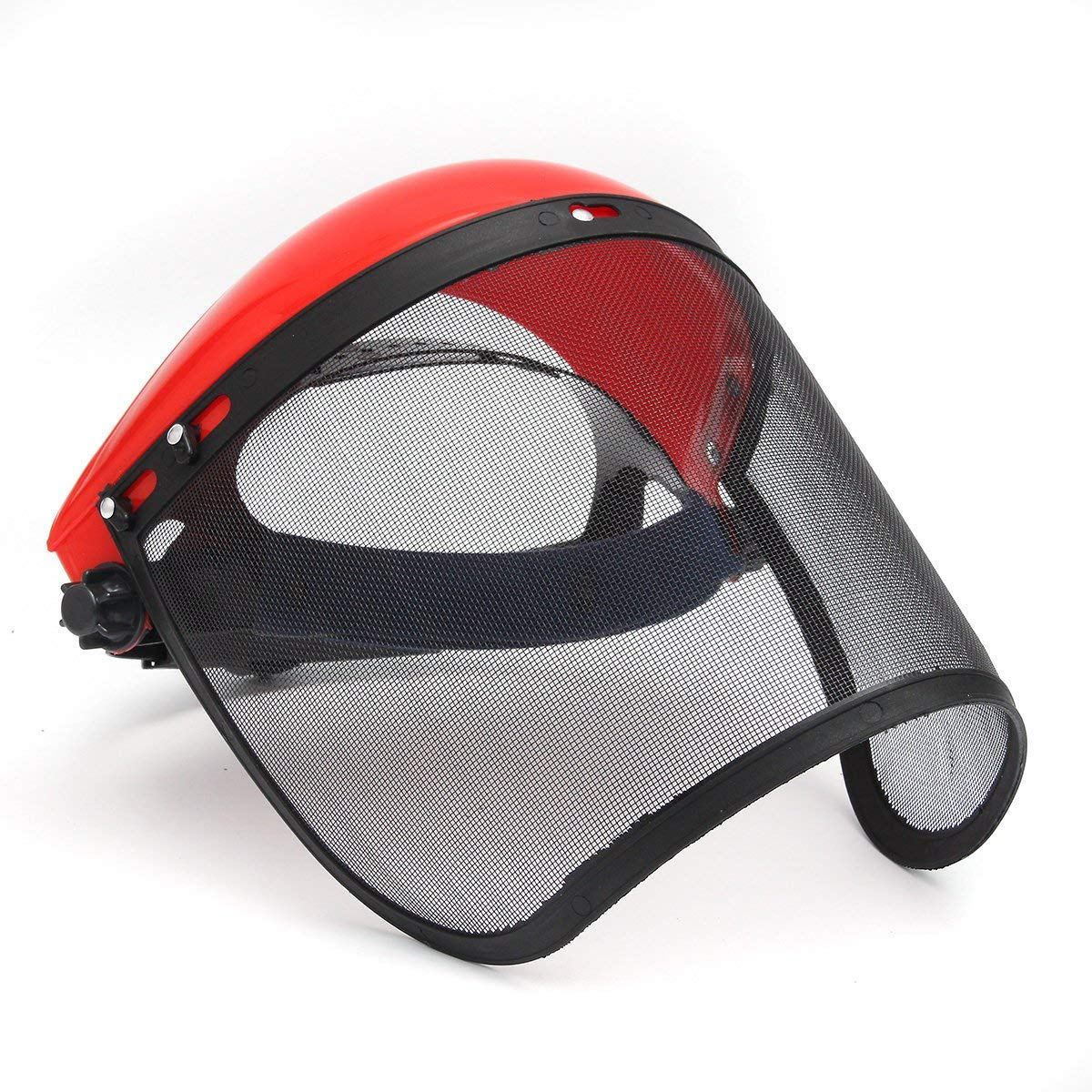 Clear Full Visor Flip Up Face Shield Screen Safety Mask Eye Protector Helmet Red - Safety & Protective Gear Masks - 1 x Half Helmet