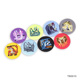 Customized Embroidery Logo Fabric Badges Badge Holder Button Badge