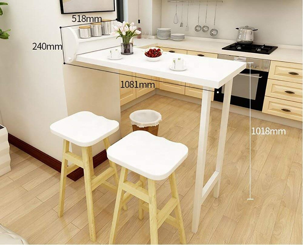 Folding Table Wall Hanging Deciduous Kitchen Dining Table Wall Mounted Dining Table White