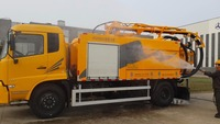 Vacuum Sewage Suction Combined Jetting Sewer Cleaning Trucks