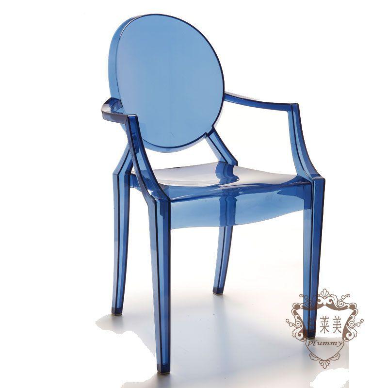 Get Quotations · Platinum Lai Mei PC Plastic Designer Work Chair IKEA  Transparent Acrylic Crystal Devil Personality Dinette Chairs