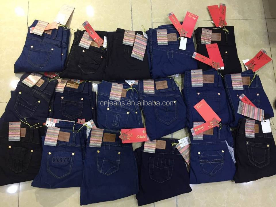 GZY stock mix garment jeans manufacturer in ahmedabad