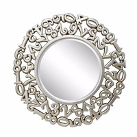 modern decorative wall round plastic mirror frame sticker