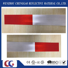 3m red and white vehicle reflective self adhesive traffic safety tape sticker