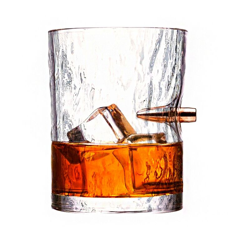Hand Grip Thick bottom Crystal Whiskey Glasses cup Scotch Glasses Set