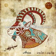 Aries!!! The Zodiac fabric painting designs