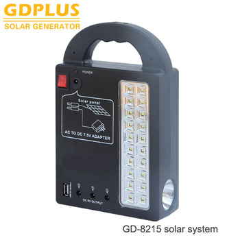 Portable Camping Light Home Emergency Lamp With Mobile Phone Charger Solar Lighting System Kits View Energy Gdplus Product