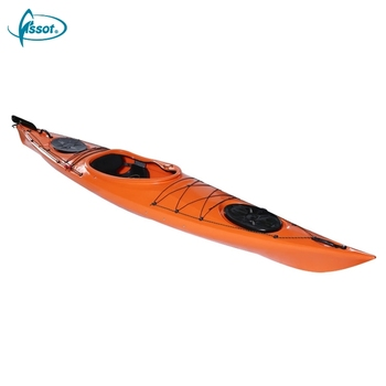 New design 4.2 meters fishing canoe kayak for single person