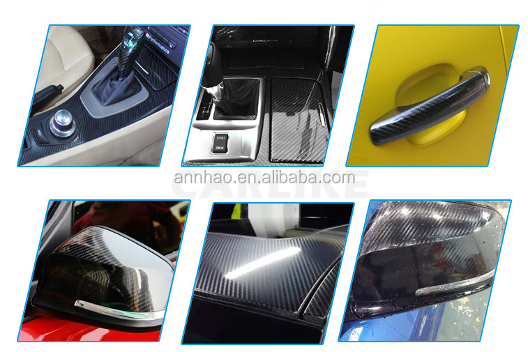 Premium High Glossy Black 5D Carbon Fiber Warp Motorcycle Car Sticker
