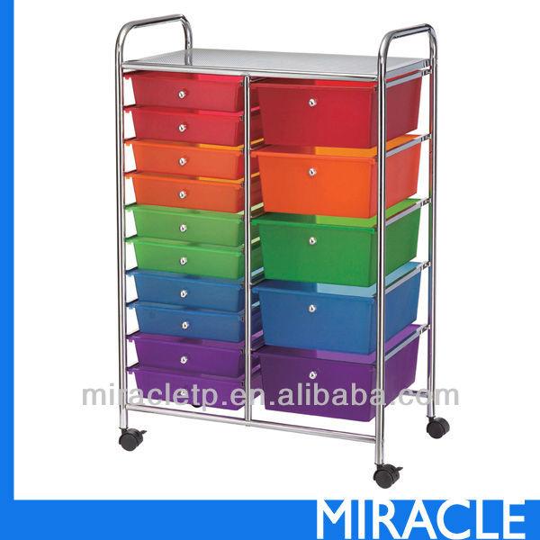 15 pp en plastique tiroir de rangement organisateur for Meuble plastique tiroir