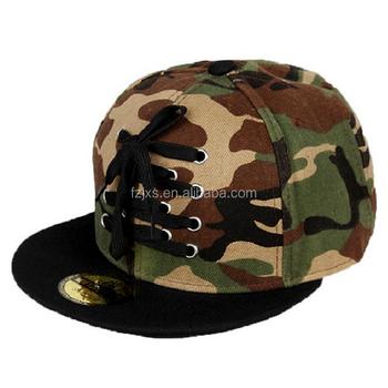 65cb6ea0109 100% Cotton Snapback Camo Flat Bill Hats Caps - Buy Camo Flat Bill ...