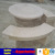 Dark grey granite bench with round granite table
