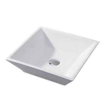 2018 Bathroom Vanity Countertop Ceramic Porcelain Square Vessel