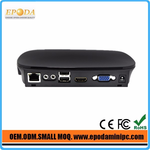 Fanless mini industrial PC,Mini Desktop PC using ARM 9 1.5 GHz,Multi Media Mini PC Share with 3 USB 1080P player