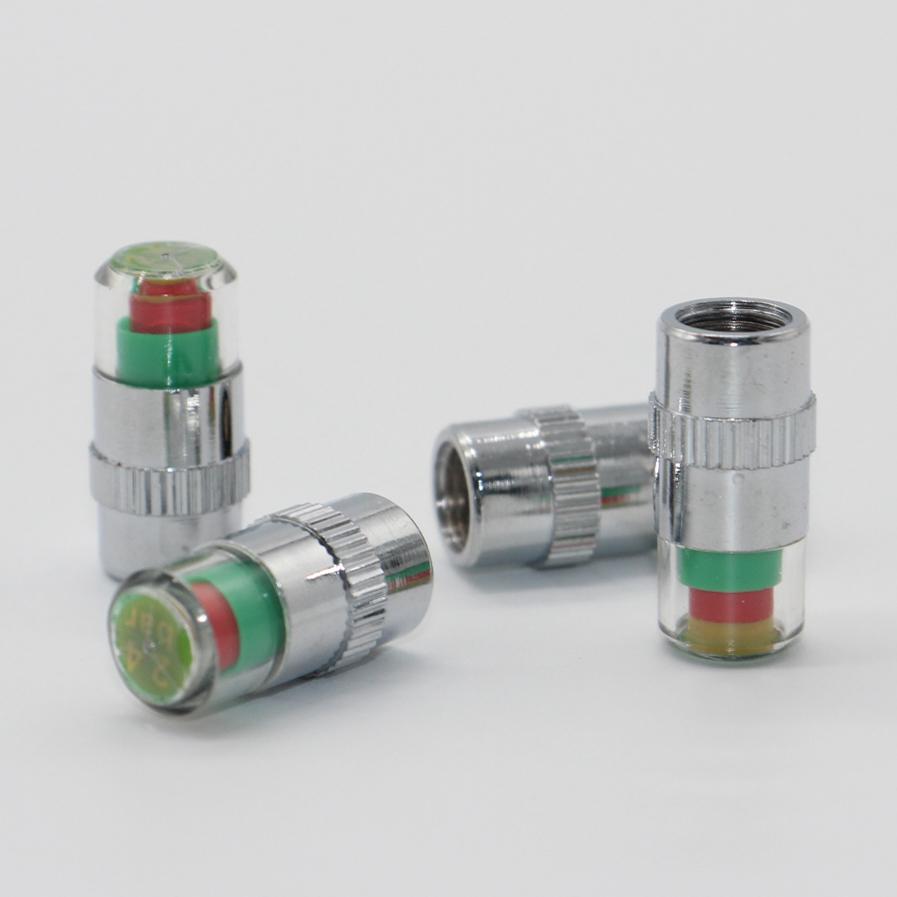 3 Tapa de Válvula de Neumático Indicador De Alerta De Color Calibre Neumático de coche monitor de presión de aire