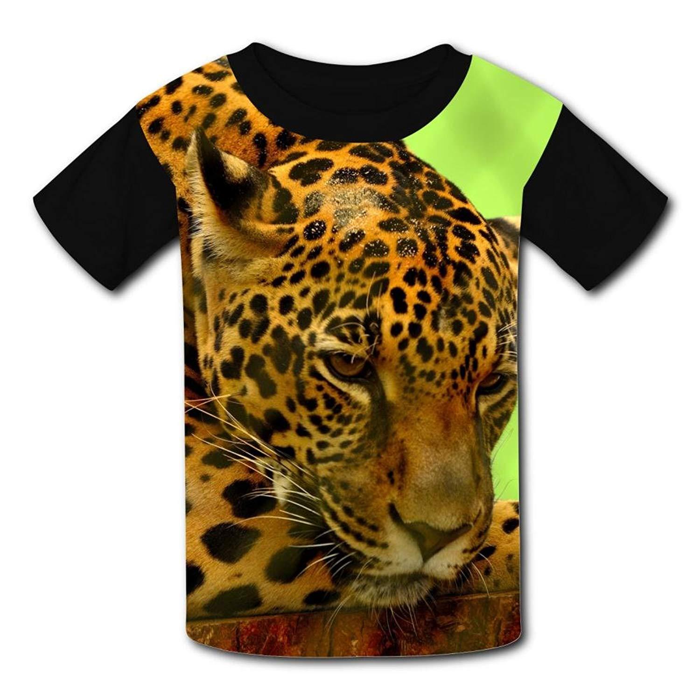 b7d495daa Get Quotations · Robadyme Jaguar T-Shirt Short Sleeve Kids Tee Shirt Black  Cute 2018 for Girls Boys