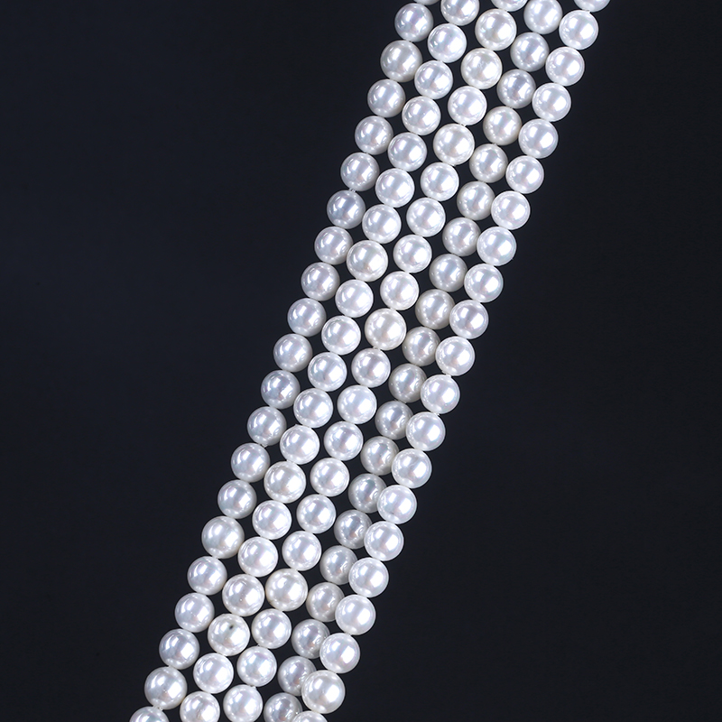 4 to 20mm Pure White Color Round Beads  South Sea Pearl Oyster Shell Pearl Beads Strands