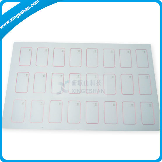 1k or Fudan Chip 4*8 RFID ID and IC Card inlay