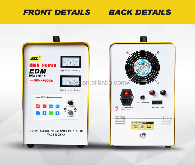 High speed 3000W portable edm machine remove broken taps bench drilling machine