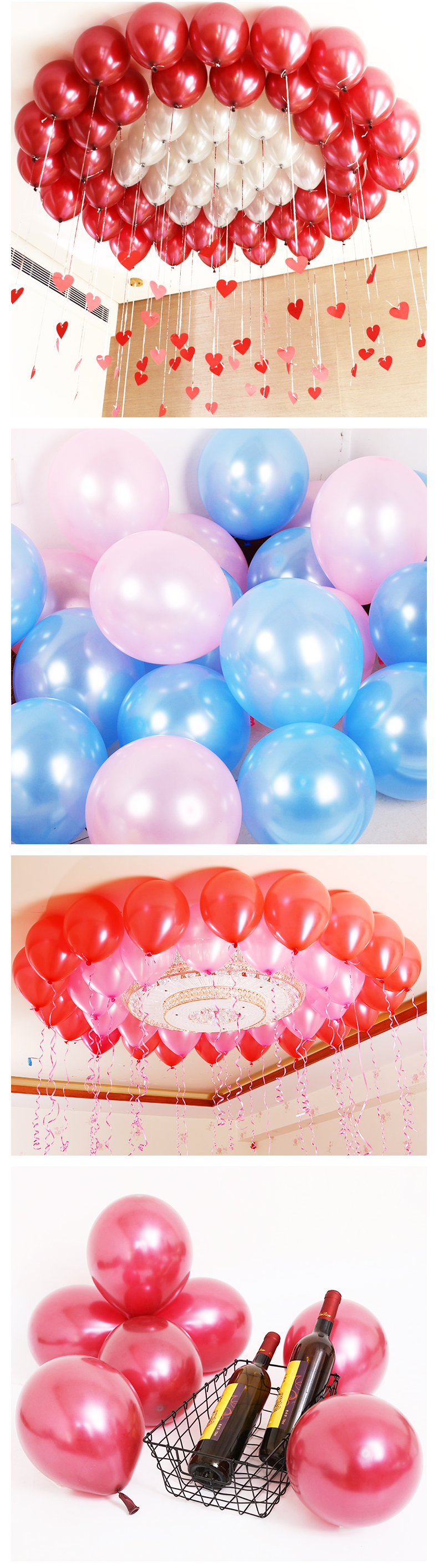 China factory Round 12-inch 2.8 grams metallic pearl balloons meet CE/ EN7-1-2-3 helium quality