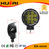 Auto parts spot beam 60W round silver/black led work lamp 4x4 driving light 12v