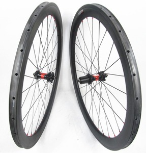 FSC50TM-25 Disc brake carbon tubular wheels 50mm deep 25mm wide with DT 240S disc hub central lock or 6 bolt thru axle 15mm
