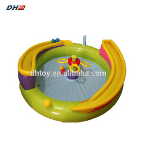 inflatable pool games with slide for children