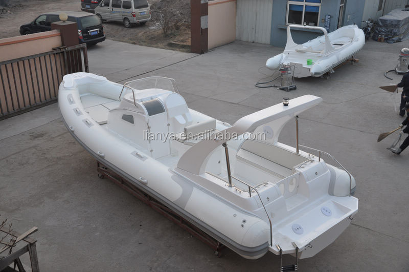 Liya fiberglass hull luxury yacht power rib boat inflatable boat 8m for sale