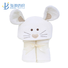 mouse 100% cotton hooded towel in baby
