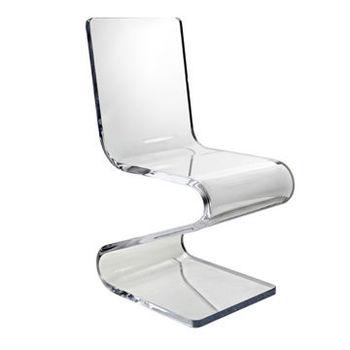 Transparent Acrylique Z Forme Chaise Lgante