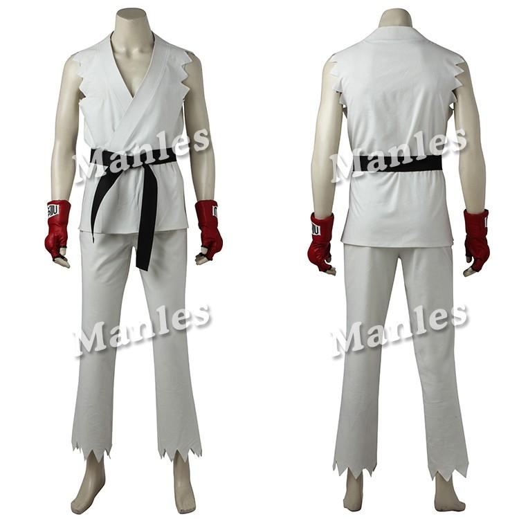 Game STREET FIGHTER V Ryu Cosplay Costume custom made gloves