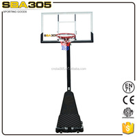 portable moveable plastic outdoor basketball system