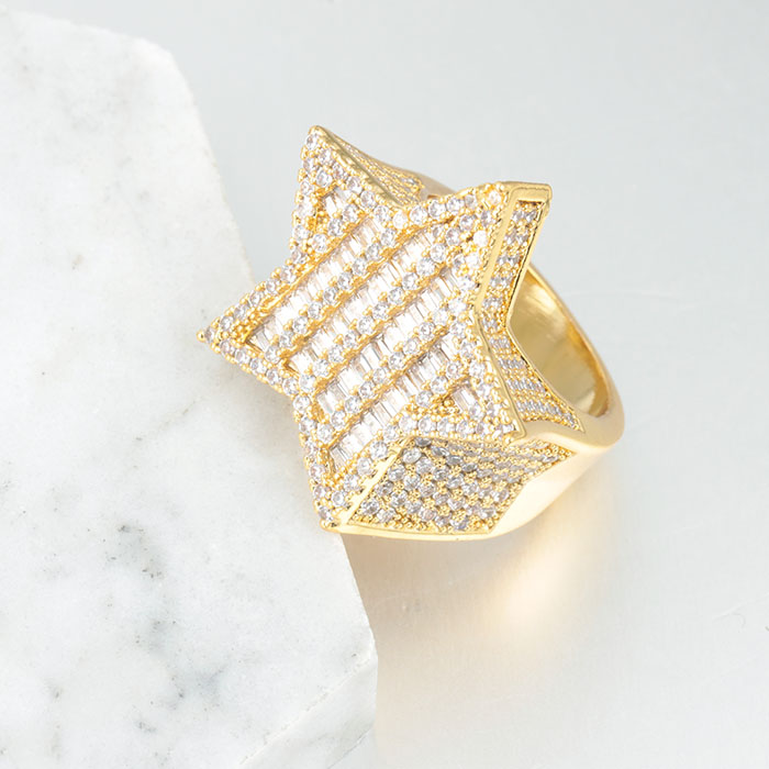 b45f4b9acd293 Miss Jewelry Hot Selling Hip Hop Ring 925 Sterling Silver Gold ...
