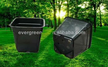 Kunststof Tuin Pot : Vierkante plastic bloempot zwarte en bruine vierkante tuin pot buy