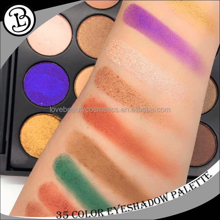 High pigmented accept low moq private lable 35 makeup eyeshadow