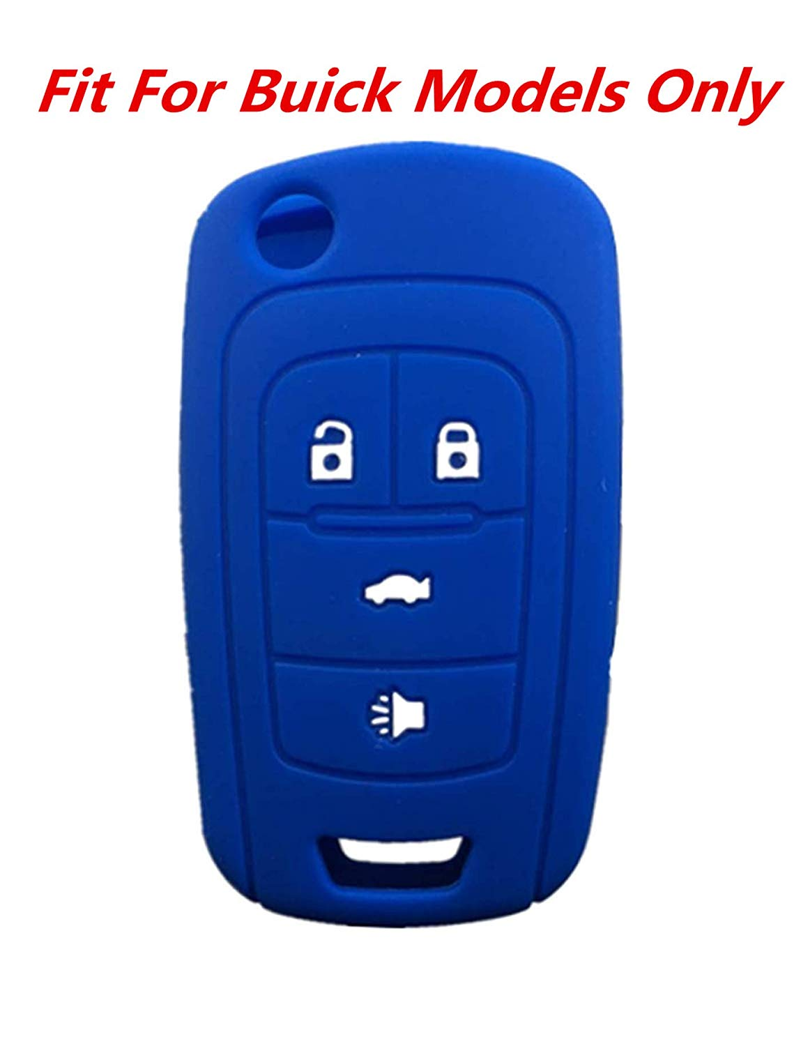 KAWIHEN Silicone Keyless Entry Smart Remote Key Fob Cover For 2013 2014 2015 2016 2017 2018 Buick Encore Enclave LaCrosse Regal Verano OHT01060512 V2T01060512 5461A-01060512 13500222 13501913