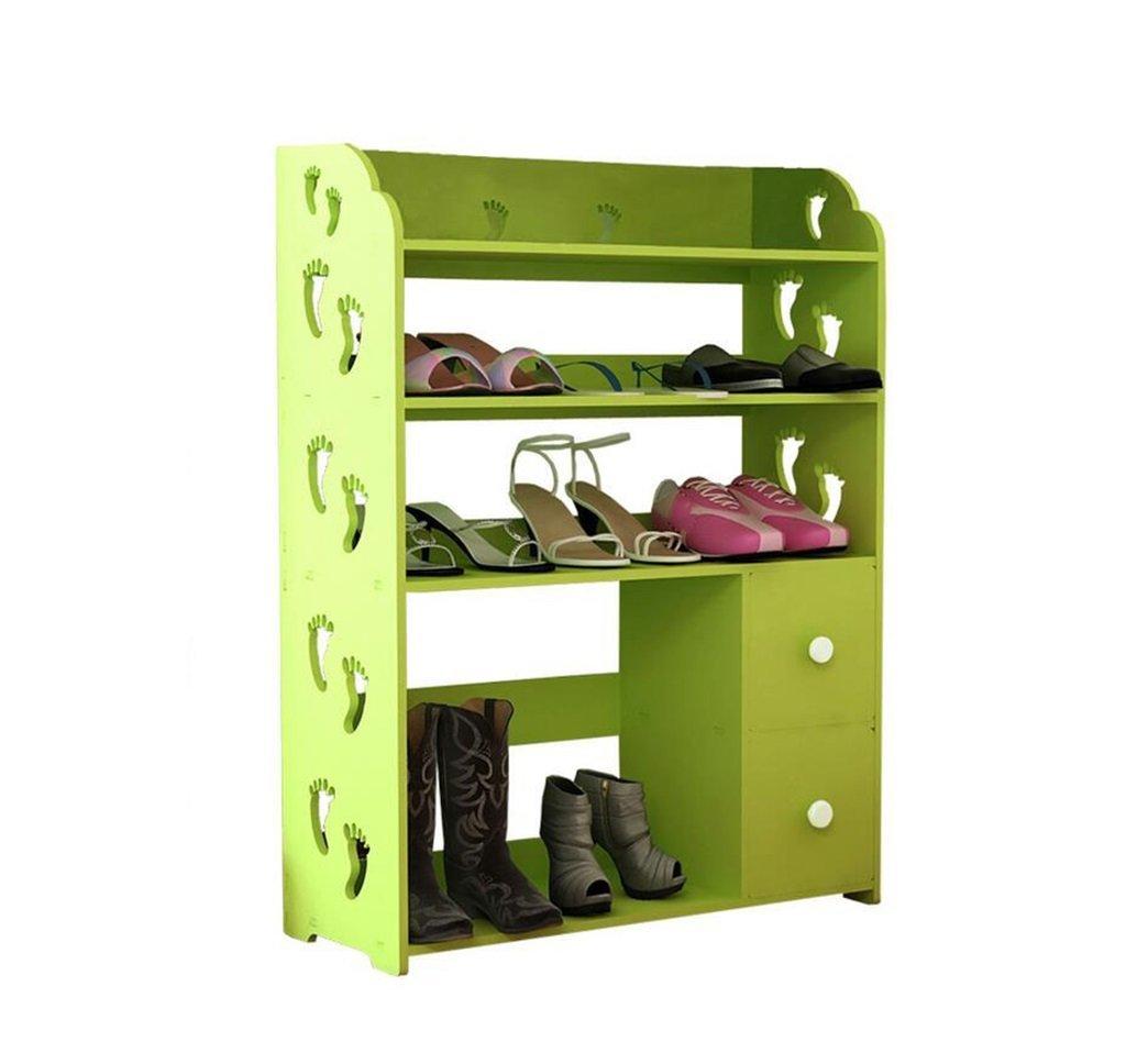 AIDELAI shoe racks Shoe Rack Cabinets Creative Carvings Boots Organiser Shelves Multifunctional Dustproof Multi Tiers With Drawer Combination Of Shoe Racks (Green/602481)