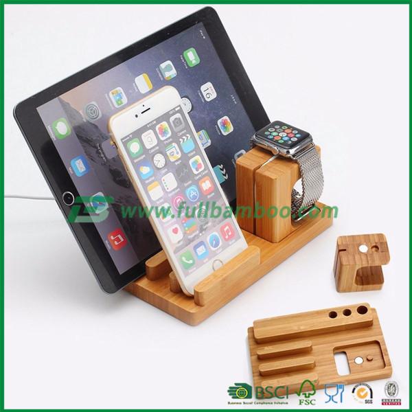 handy laptop tablet ladestation schlie f cher aus bambus speicherhalter und st nder produkt id. Black Bedroom Furniture Sets. Home Design Ideas